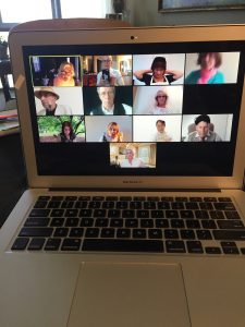 zoom marketing meeting with dental practice
